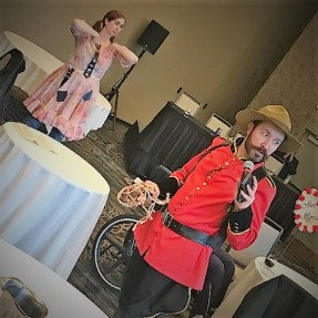 Hillbilly Wedding - Constable Terry Shane seems to be distressed by shenanigans behind his back.